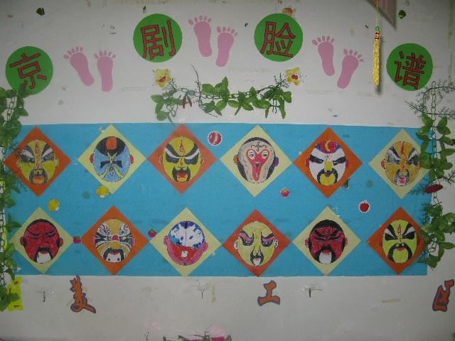 幼儿园中国风环境布置墙面图片