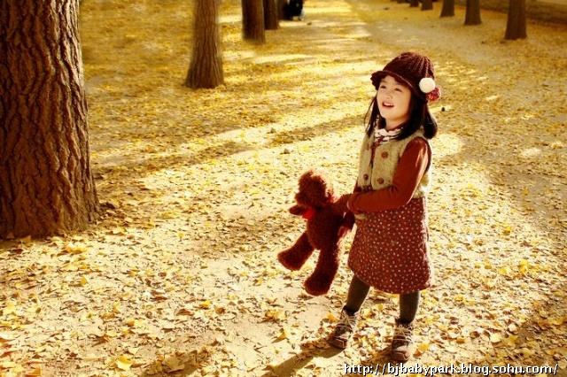秋天的风景亲子画