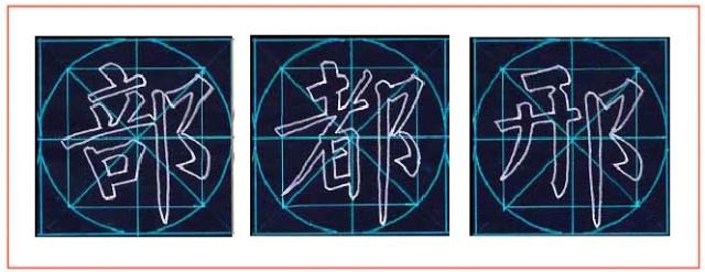 方圆字格楷书结构三十二法
