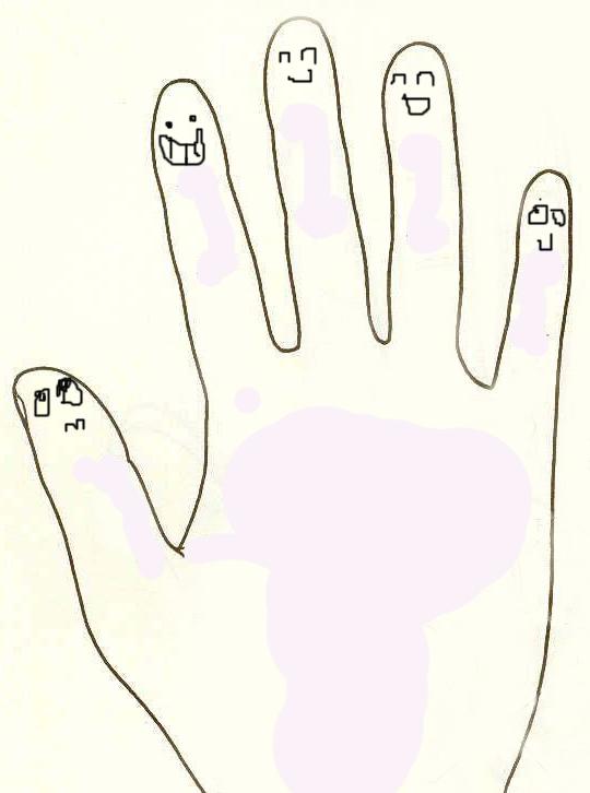 手握拳头手绘图