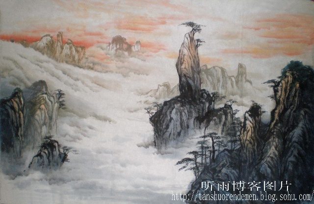 山水风景 初学油画分享展示