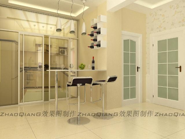 主卧家装效果图 家装效果图客厅隐形门 60平米小户型家装