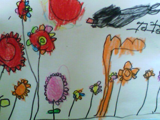 孩子自己动手画一幅春天的图画-画一幅自己的原创