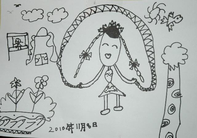 秋千简笔画图片步骤