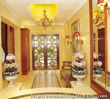 十-欧式别墅客厅效果图设计过厅