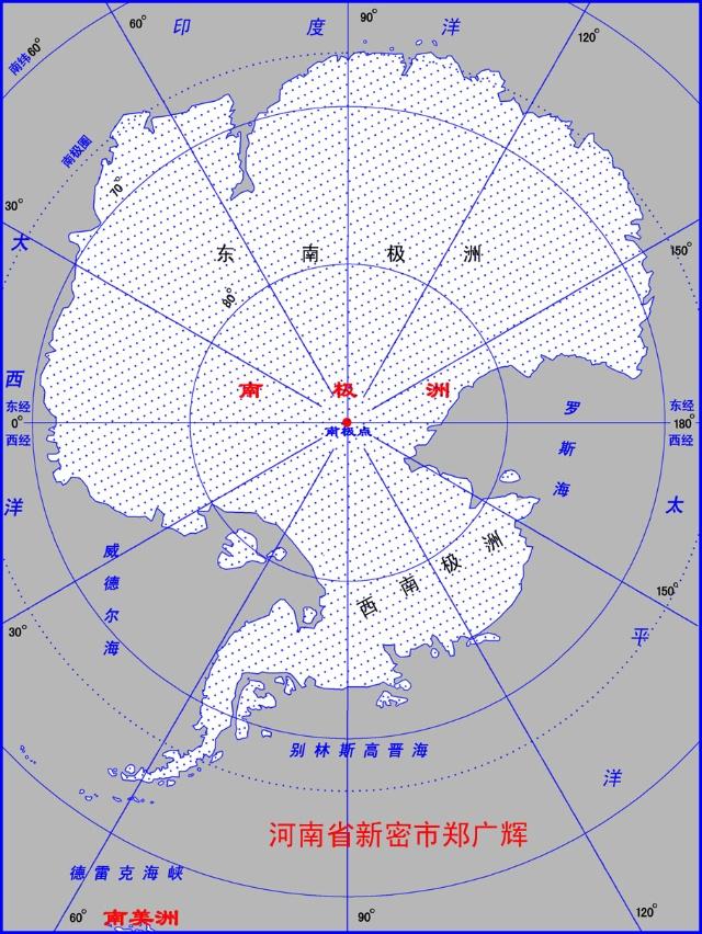 图7-1 南极洲地理简图