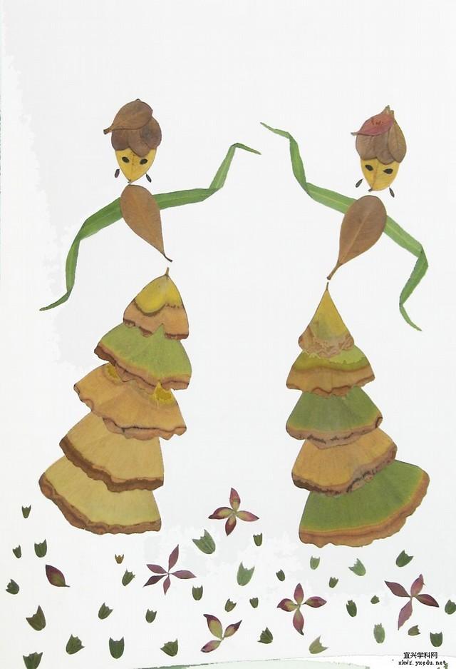 荷塘荷叶儿童画展示图片