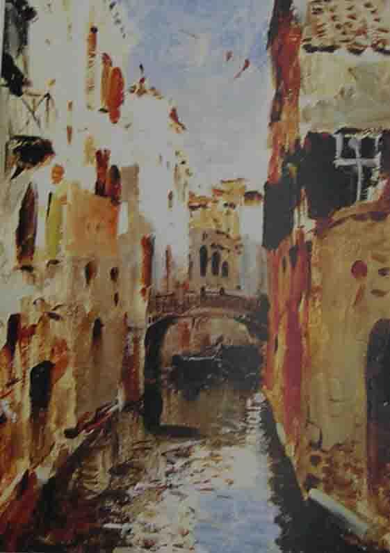 欧洲古建筑油画