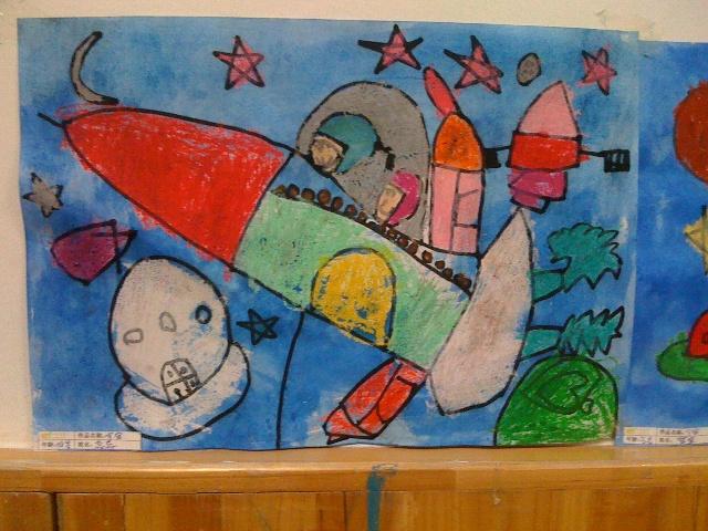宇宙儿童画画图片大全大图