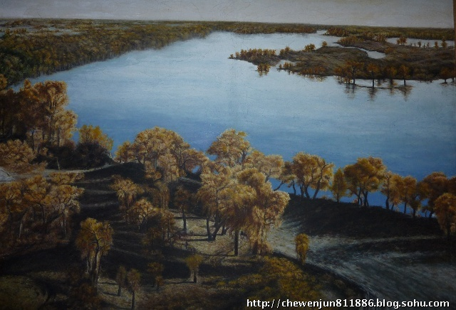 油画作品19《塔河