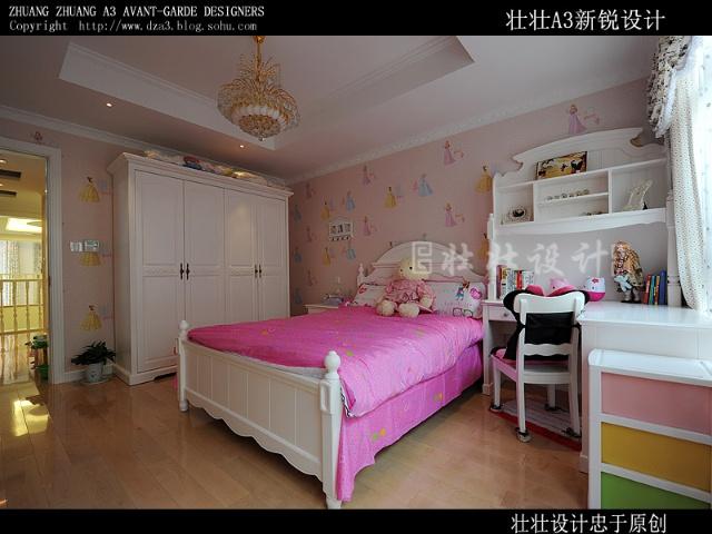 卧室花纹硬包背景