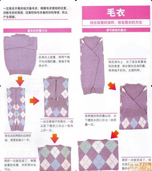 衣服折叠图解