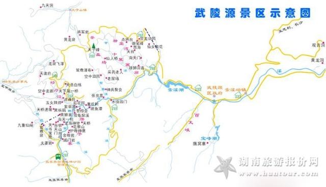 张家界旅游地图